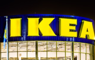 ELIZABETH, NJ - NOVEMBER 23, 2014: IKEA store entrance. Founded in 1943, IKEA is the world's largest furniture retailer. IKEA operates 351 stores in 43 countries.